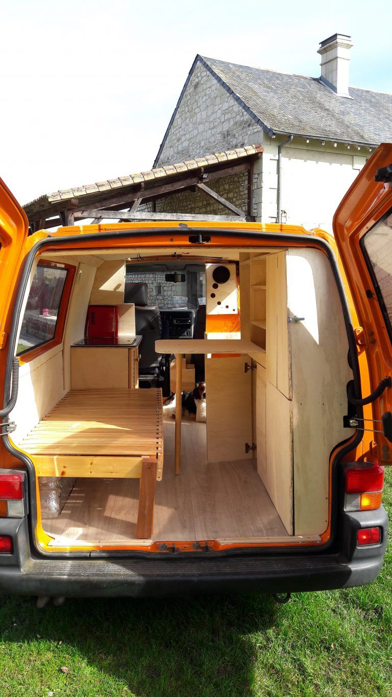 fourgon amenage volkswagen t4 camping in vans pinterest van camping camper and mini camper. Black Bedroom Furniture Sets. Home Design Ideas