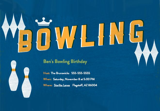 Striking Bowling Party Invitations Bowling Party Invitations