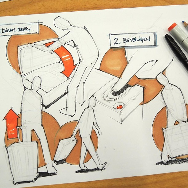 design sketching — Quick storyboard setup 2 #designsketching...