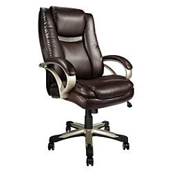Realspace Btec 600 Big Tall Executive High Back Chair Brown By