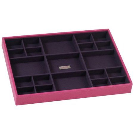 Amazon.com - Stackables Large Fuchsia Standard Jewelry Tray By Wolf Designs 3173