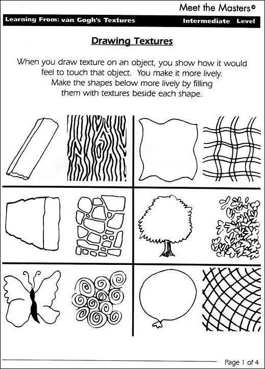 Grade 1 Art Handouts Art Worksheets Elements Of Art