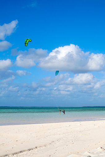 Windsurfers Cocos Keeling Islans Cocos Keeling Islands West Island Indian Ocean