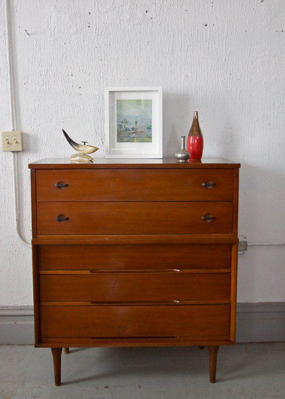 Reserved Mid Century Modern Tall Boy Dresser Gentlemans Chest