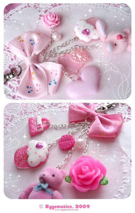 Pink bag charms by hullabalo0 on DeviantArt