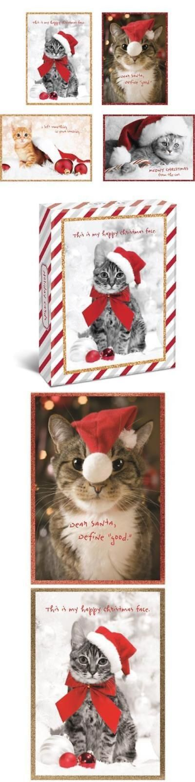 Cat Lover Products 117422 Holiday Cats Boxed 4 X 6 Christmas Cards