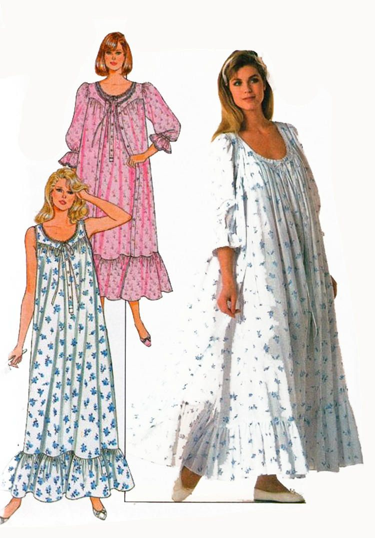 2f25a21699 Vintage 1980s EILEEN WEST Misses Nightgown and Robe Sewing Pattern Butterick  4864 80s Womans Pattern Size 6-14 Bust 30.5-36 by sandritocat on Etsy
