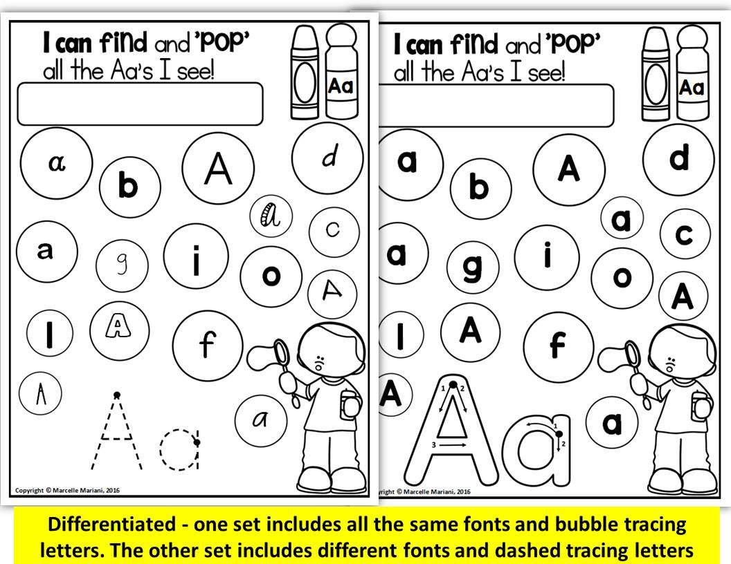 Alphabet Worksheets Letter Tracing Recognition And Identification