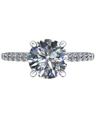 Diamond Accented Cathedral-Style Mount (1/5 ct. t.w.) in 14k White Gold - White
