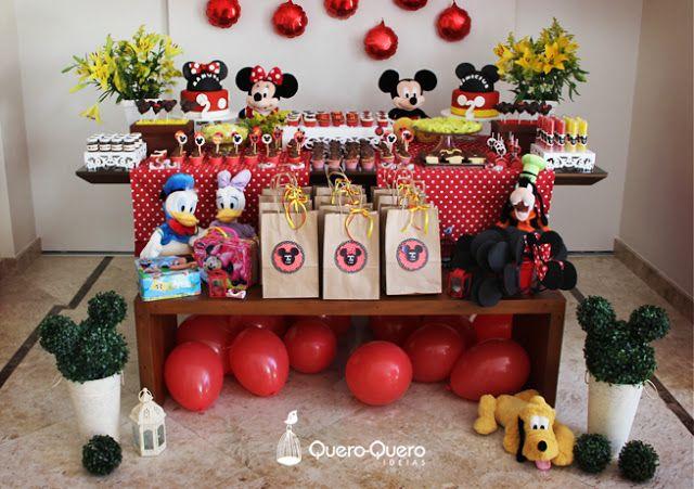 Quero-Quero ideias: Quero-Quero decoração: Festa Mickey e Minnie dos gêmeos