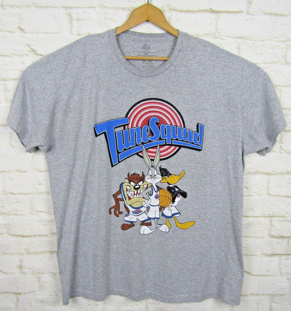 Space T Shirts Ideas Spaceshirts Spacetshirts Looney Tunes Space Jam Tune Squad Basketball Gray Short Sleeved Space Shirts Tune Squad Looney Tunes Space Jam