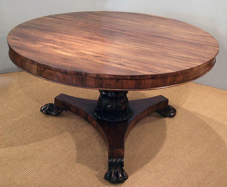 William Iv Rosewood Centre Table Antique Breakfast Table William