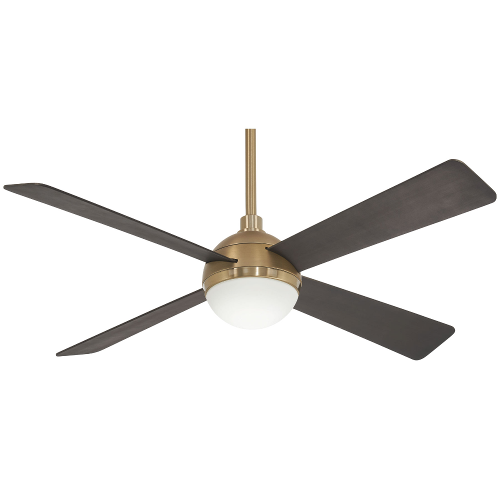 Orb Ceiling Fan With Light By Minka Aire F623l Bbr Sbr In 2020 Brass Ceiling Fan Fan Light Ceiling Fan With Light