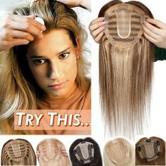 Details about Russian 100% Remy Human Hair Topper