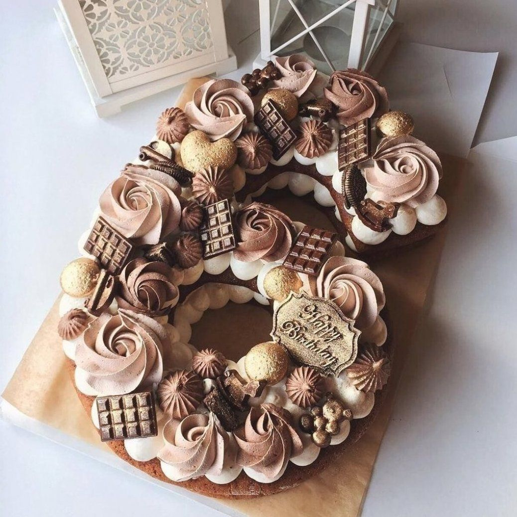 number cake 6 in 2020 Number cakes, 6 cake, Burlap wreath