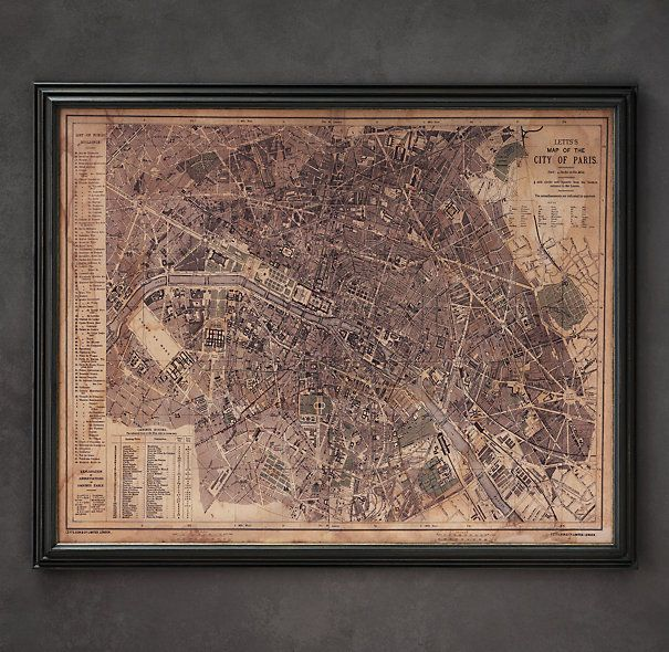 Circa Paris Map If Ever You Have A Spare Lying Around - Restoration hardware paris map