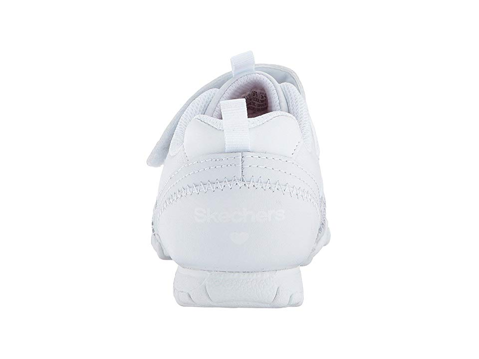 c4113d64e71 SKECHERS KIDS Biker II Rally Time 82270L (Little Kid Big Kid) Girl s Shoes  White