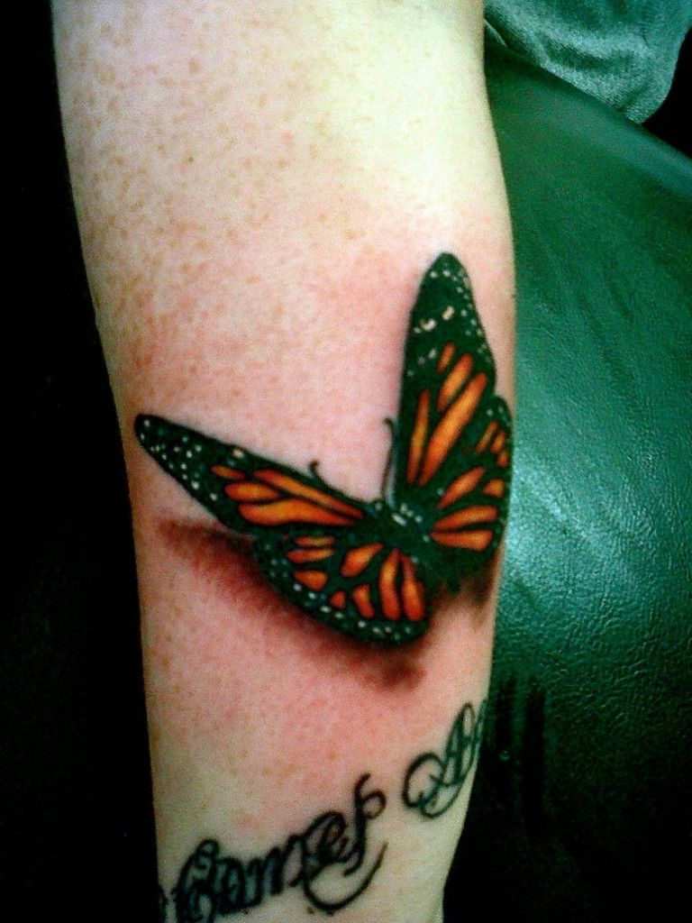 Monarch Butterfly Tattoo On Wrist 3dbutterflytattooson