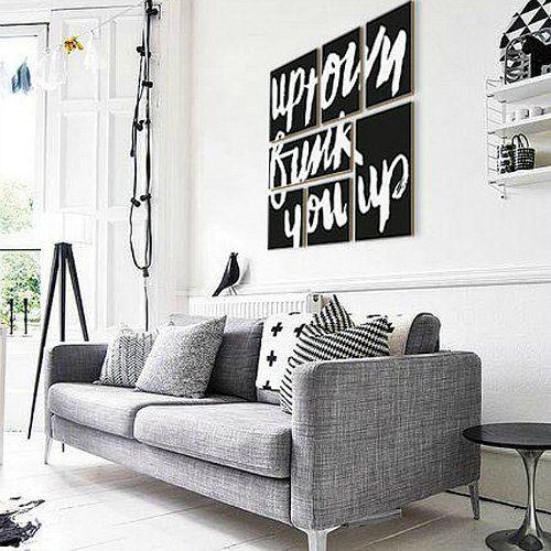 Resultado de imagen de minimalismo blanco negro decoracion - Decoracion salones en blanco ...