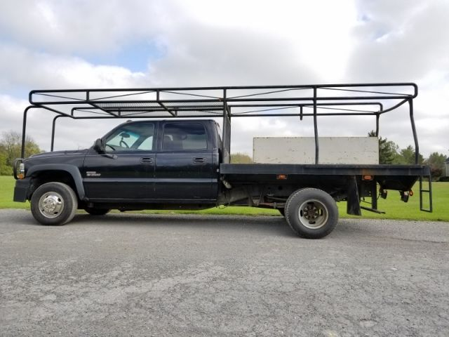 2002 Chevy 3500 Crew Cab Diesel 4x4 Flatbed Contractors Truck Trucks For Sale Trucks Crew Cab