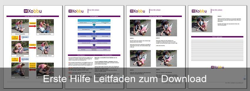 Erste Hilfe Grundlagen + Anleitung + Merkblatt und Vorlage zum ...