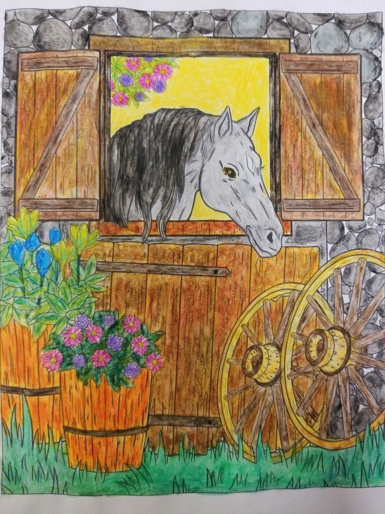 Country Life By Coloring Book Cafe Art Coloring Books Moose Art