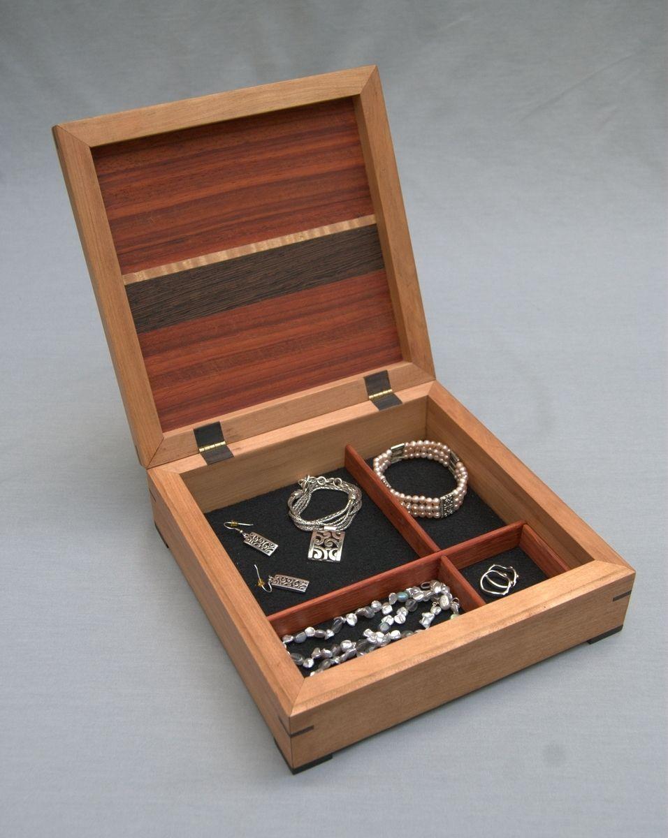 Custom Made Cherry And Padauk Jewelry Box