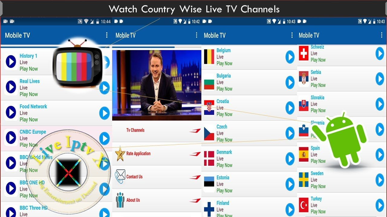 MOBILE TV APK FOR WATCH COUNTRY WISE LIVE TV CHANNELS ON