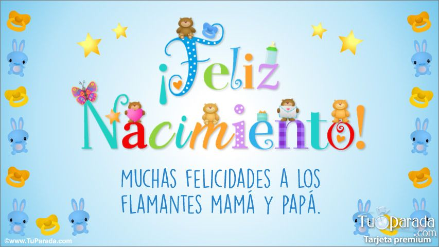 Tarjeta De Nacimiento Celeste Con Cariño Nacimiento Tarjetas Postales Gratis Feliz Día Tarjetas De Nacimiento Felicitaciones Nacimiento Feliz Nacimiento
