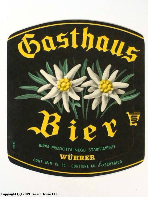 Labels Gasthaus Bier Wϋhrer S.P.A. Brescia Lombardy Italy #Botanical #Blackletter