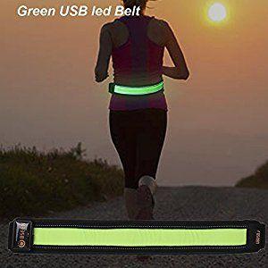LEG BAND Running Jogging Walking Red Blinking LED Reflective Light ARM