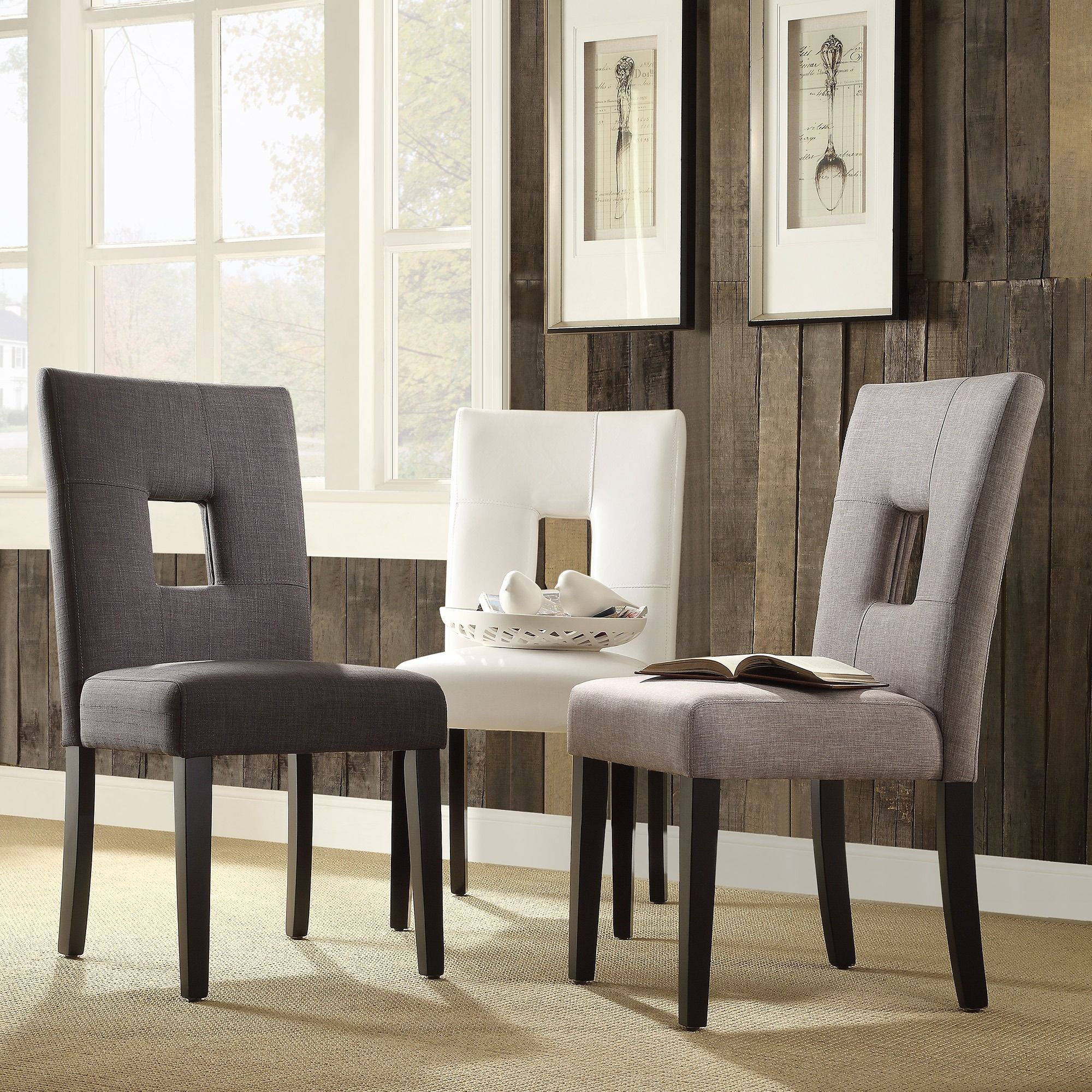 Mendoza Keyhole Back Dining Chairs by Inspire Q (Set of 2) by INSPIRE Q