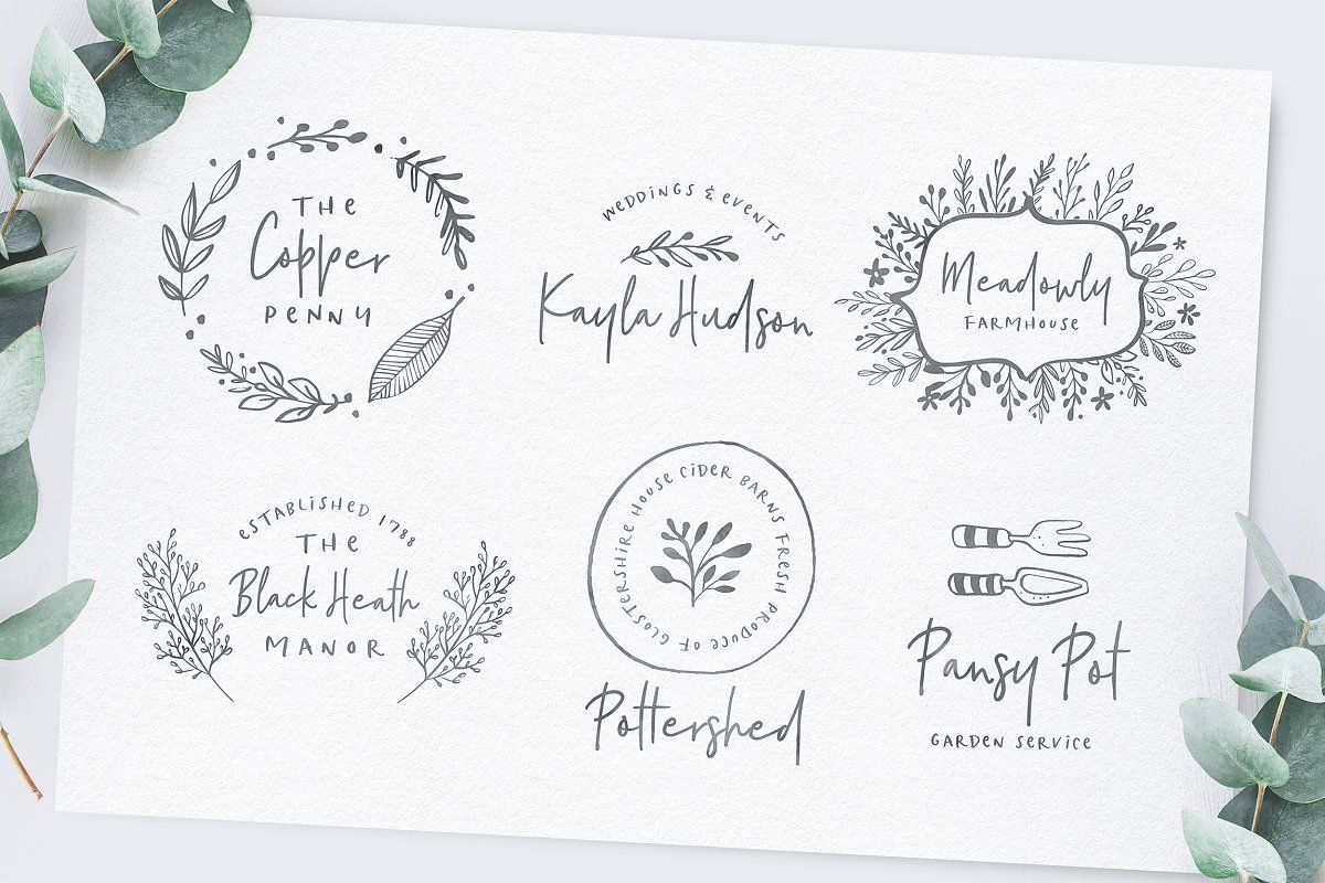 Download Ad: Poppit & Finch Fonts & Illustrations by Nicky Laatz on ...