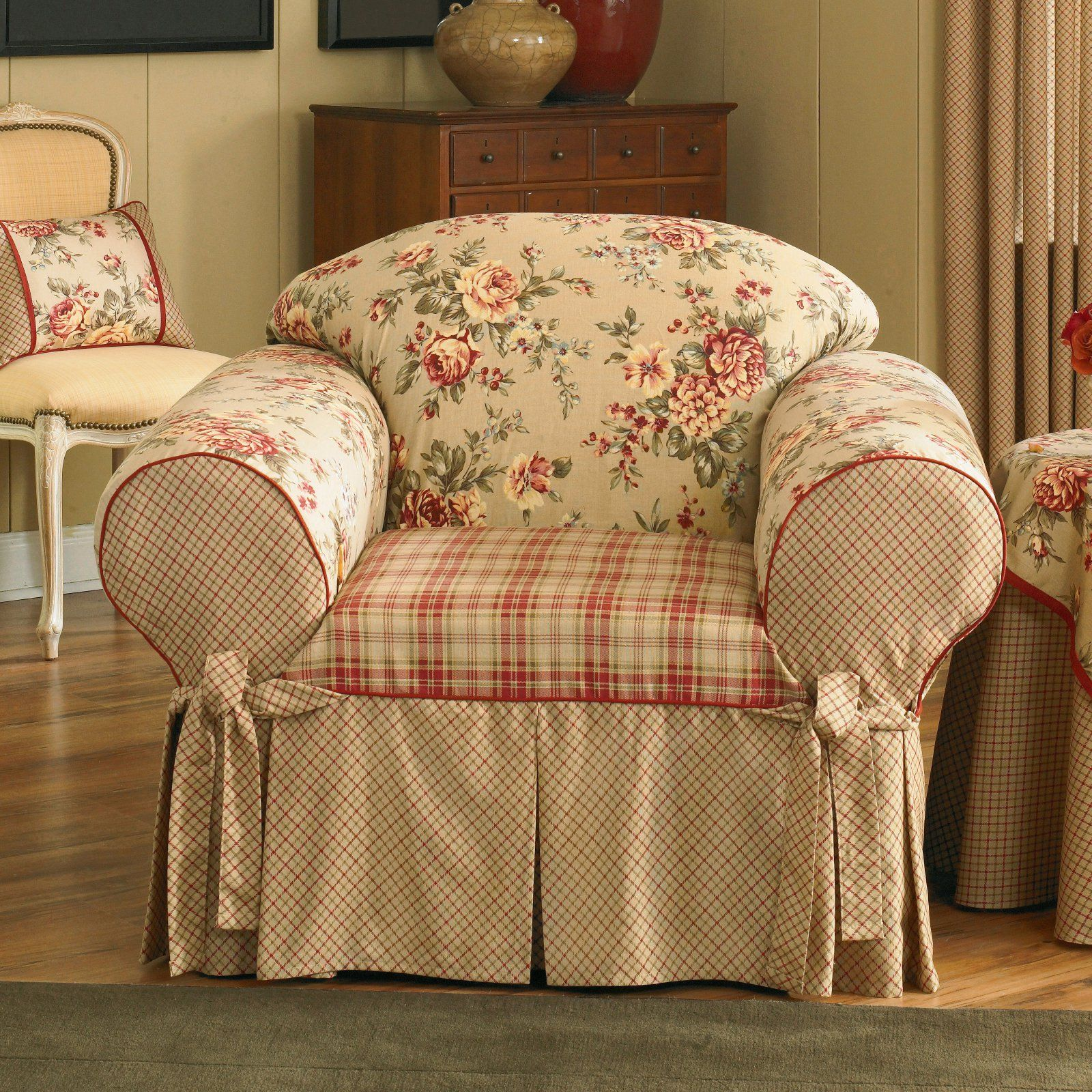 Remarkable Sure Fit Lexington Cushion Chair Slipcover In 2019 Ncnpc Chair Design For Home Ncnpcorg