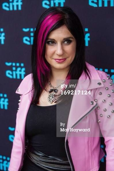 Joanna Angel At The Scrapper Movie Premier In Seattle Film Fest Wearing A Custom Pink Leather Motorcycle JacketsPink