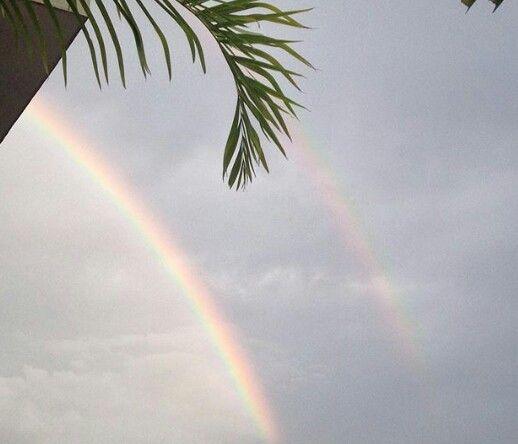 Doble Arco iris en cielo caraqueño
