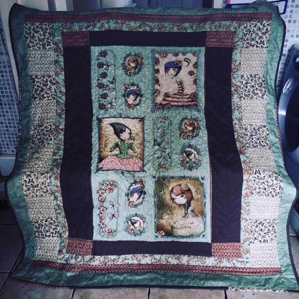 Santoro Mirabelle Patchwork quilt made by me | Chantal | Pinterest ... : the patchwork quilt summary - Adamdwight.com
