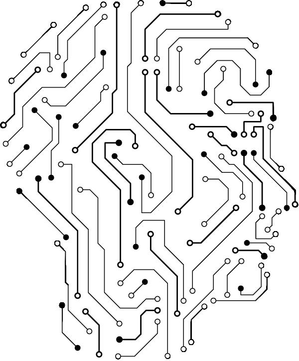 Head Art Brain Engineering Human Angle Line Circuit Board Design Electronics Circuit Circuit Board
