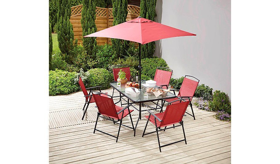 Miami 8 Piece Bistro - Red, read reviews and buy online at George at ...