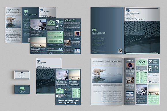 Set Of Brochures Stationery 05 Brochures Tri Fold Brochure And