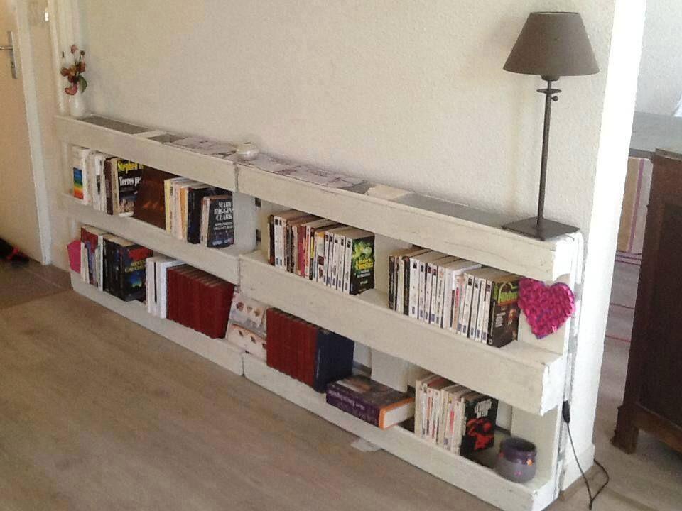 Bibliothèque palette pour le couloir decoración pinterest le