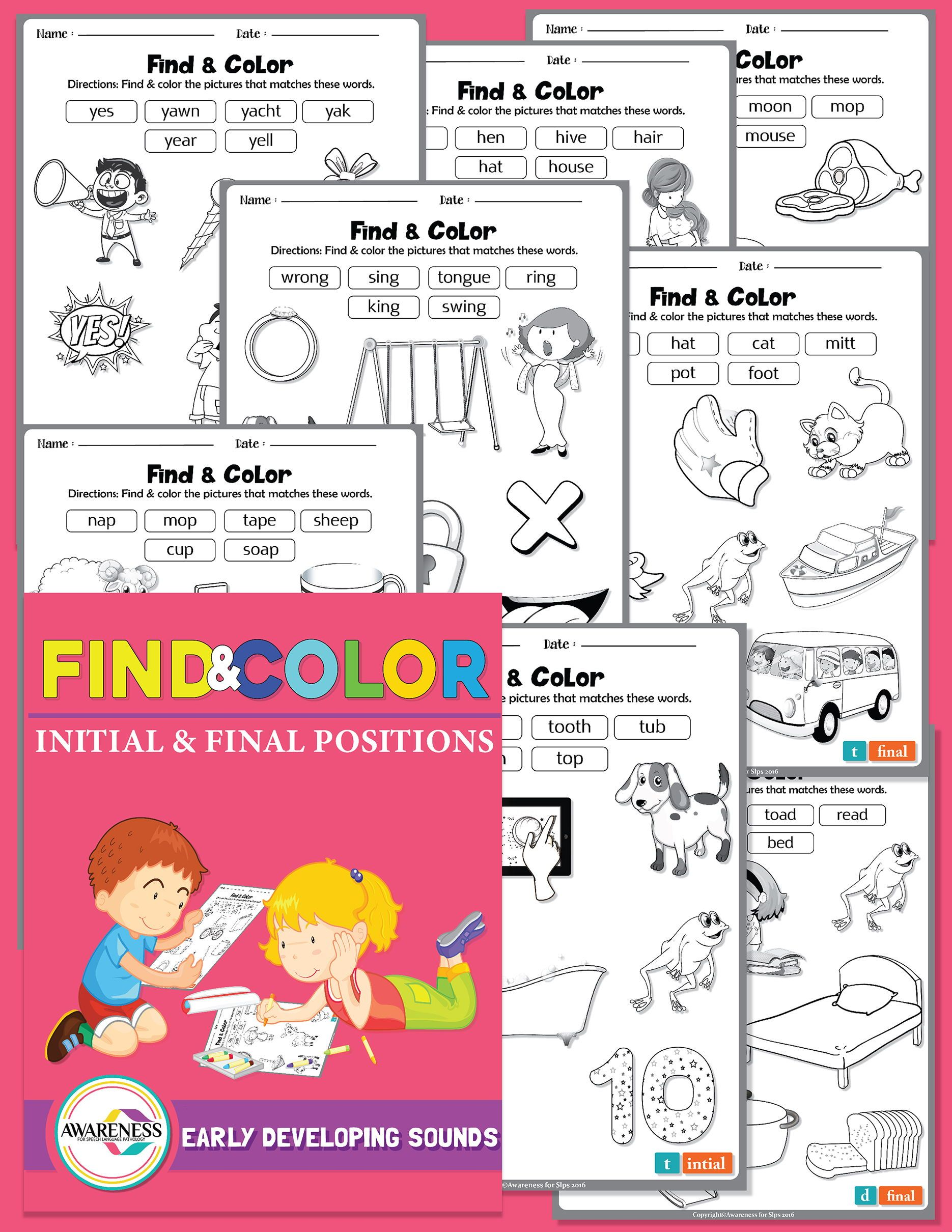 Find Color Phonological Process Early Developing Sounds Slp