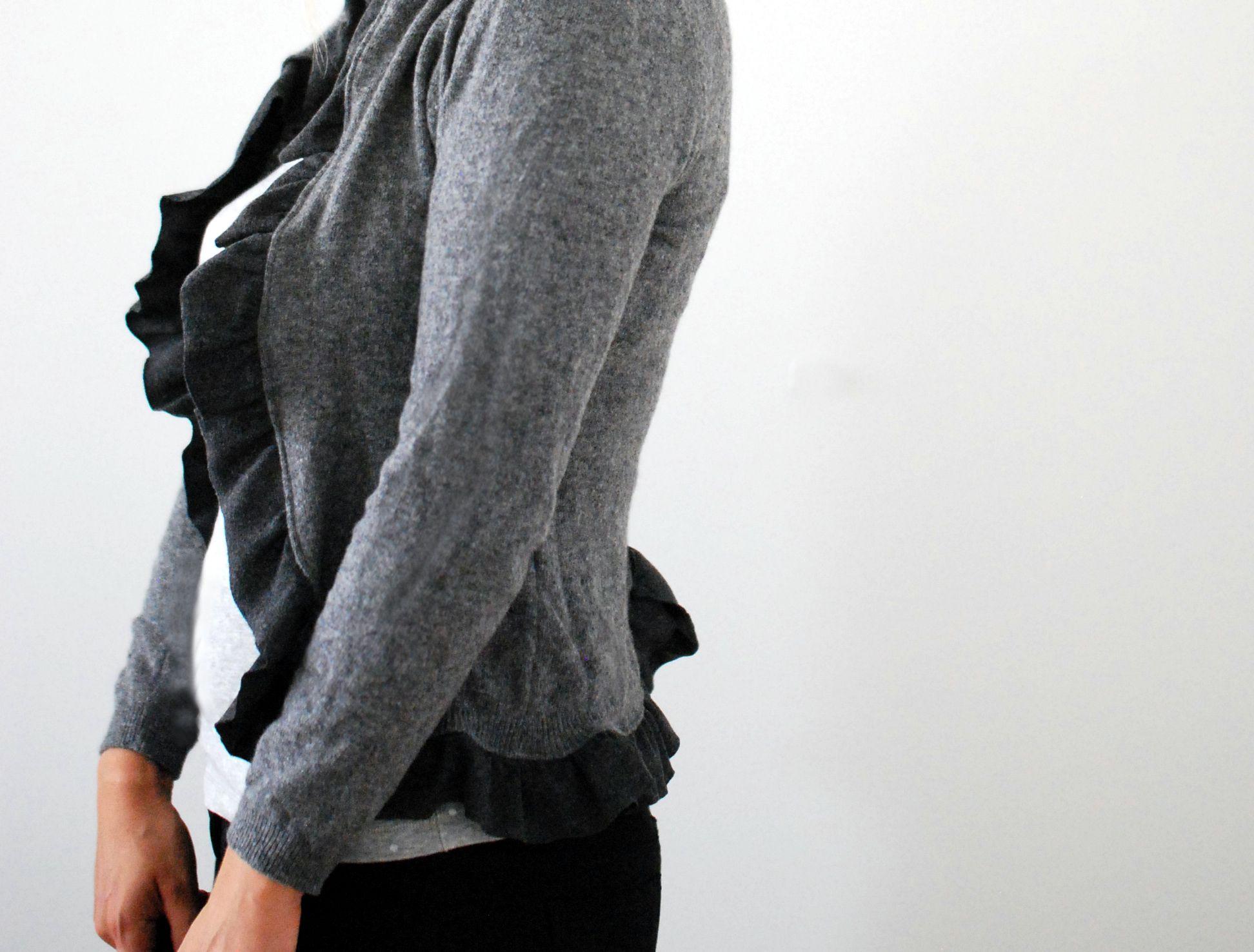 Upcycling Anleitung Vom Pullover Zur Strickjacke Inspiracje I