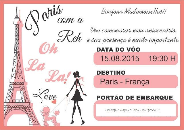 Festa De Aniversario Tema Paris Aniversario Tema Paris