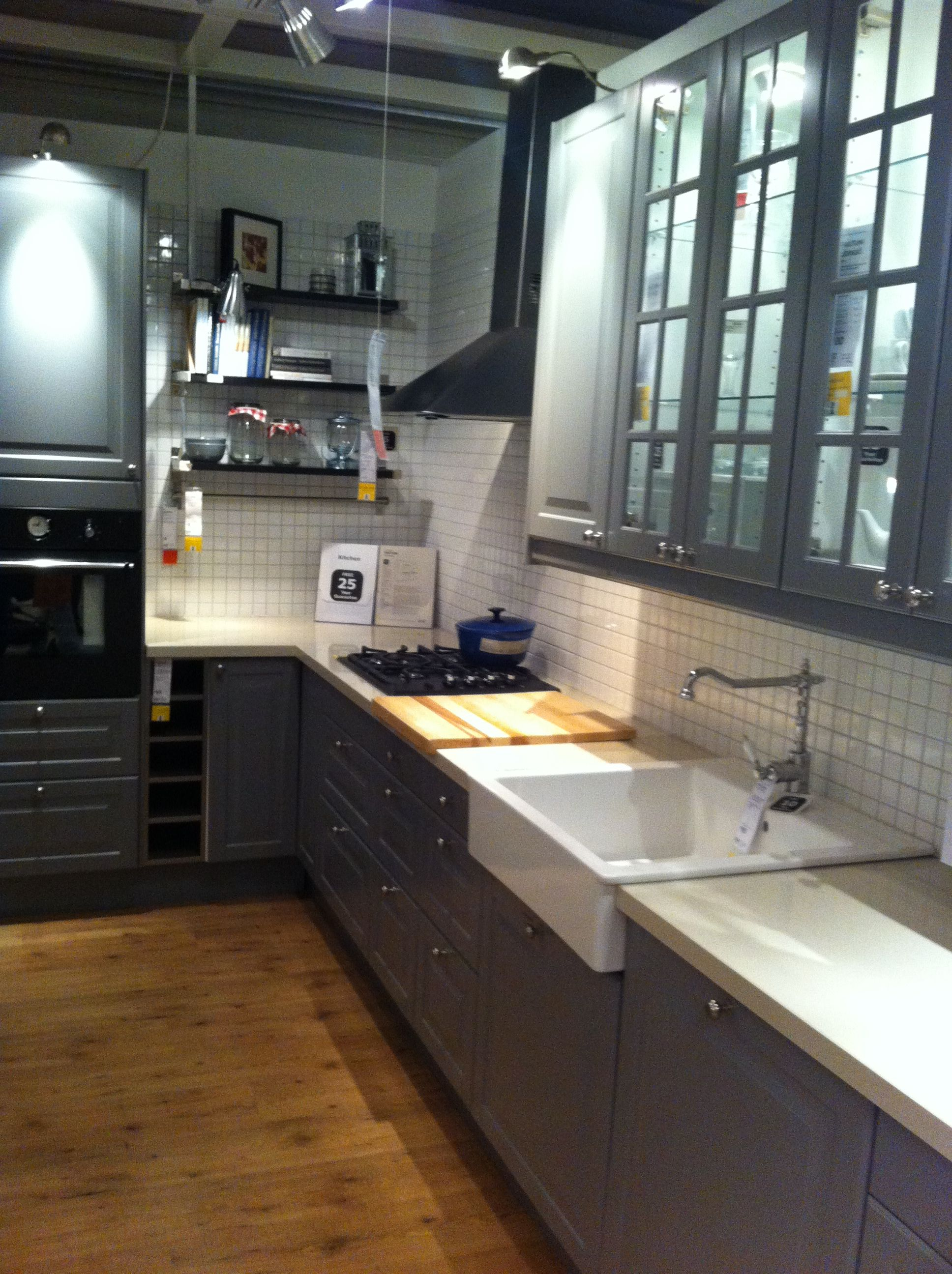 Ikea Faktum Küchen Ikea Faktum Kitchen Grey Kitchen Pinterest