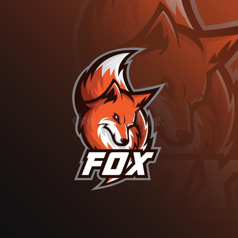 Fox Logo Mascot Sport Illustration Modern Icons For Logos And Emblem Vector Illustration Fox Logo Sport Illustration Mascot