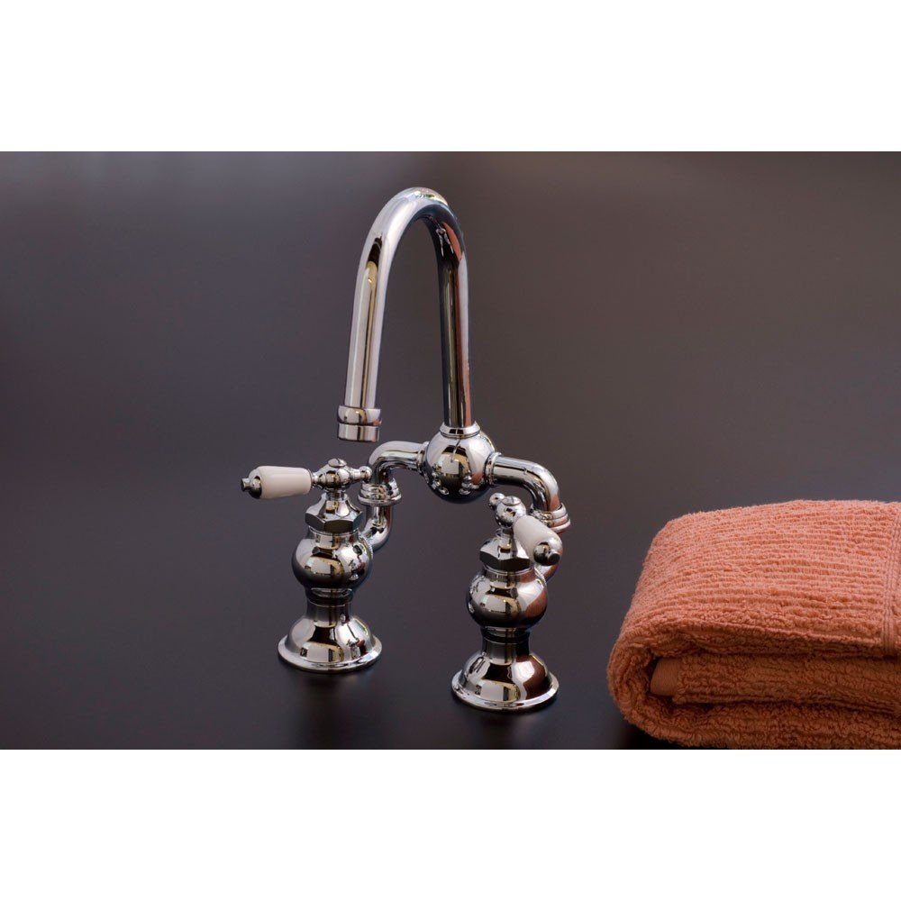 Adjustable bridge faucet with lever handles - 4 to 6 inch centers ...