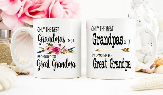 8af1b4b542b Only the Best Grandmas, Grandpas get Promoted to Great Grandma, Great  Grandpa, Great Grandparents Pr