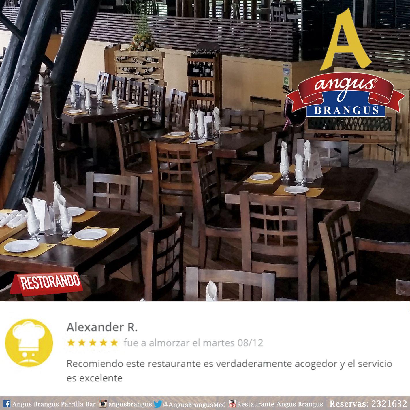 Recuerda dejarnos tu experiencia gastronómica, registrada a través de las redes sociales. Para nosotros es muy importante mejorar cada día.   #AngusBrangus #Restorando #Gastronomía #Medellín