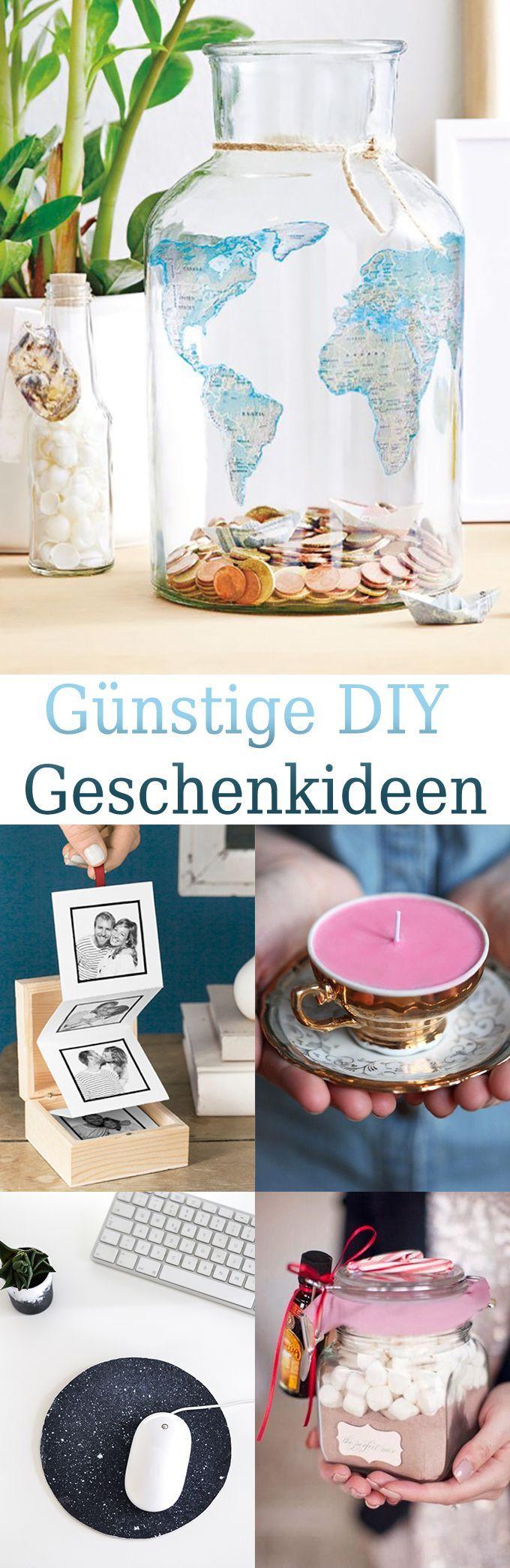 Günstige Geschenkideen zum selber machen - DIY Bastelideen | DIY ...